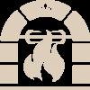 Logo la flamme angevine icone beige
